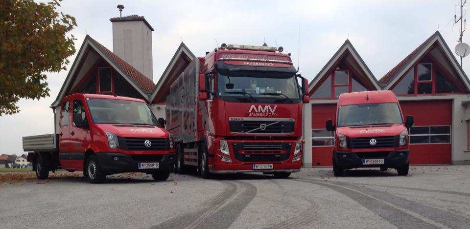 AMV LKWs und Saugbagger